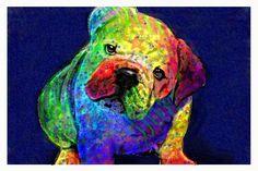 my psychedelic bulldog, by jashumbert