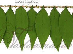 Mango lead decoration. Cloth  http://www.thugil.com/mango-leaf-design-toran-738.html