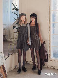 K Daily 2016 girlfriend look (MT) Minimal Fashion, Pop Fashion, Asian Fashion, Girl Fashion, Fashion Outfits, Fashion Trends, Fashion 2018, Ulzzang Fashion, Ulzzang Girl