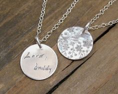 Personalized Necklace  ACTUAL Handwriting Jewelry by punkybunny300, $35.00