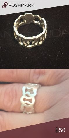 Silver Mosaic ring Authentic Tous ring Tous Jewelry Rings