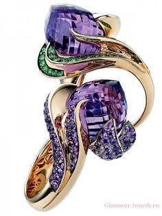 {Daily Jewel} Edwardian Amethyst and Diamond Ring Purple Jewelry, Amethyst Jewelry, Gems Jewelry, High Jewelry, Jewelry Box, Unique Jewelry, Jewelry Stores, Bling Bling, Beautiful Rings