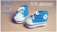 TUTO débutant : Baskets au crochet (Taille naissance à 12 mois) Partie 1/2