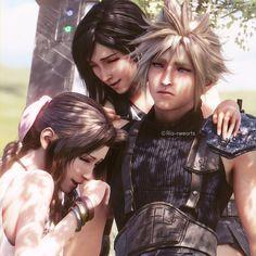 Cloud And Tifa, Cloud Strife, Final Fantasy Vii Remake, Fantasy Series, Zack Fair, Female Characters, Dreadlocks, Clouds, Couples