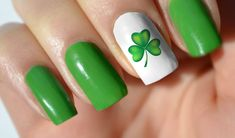 s day nail decals set irish nails, st patricks nail Spring Nail Art, Spring Nails, Summer Nails, Spring Art, Holiday Nails, Christmas Nails, Diy Nails, Cute Nails, Irish Nails