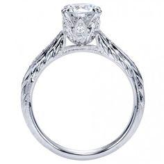 #Vintage Style Diamond Engagement Ring Setting | #beautiful #weddings #diamond