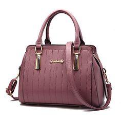 Nevenka Stripe Pu Leather Tote Handbag For Women