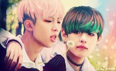 "BTS Fanart || ""RUN"" Kim Namjoon (RapMonster) & Kim Taehyung (V) by eto-nani"