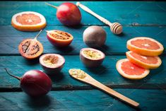 passion fruit and tamarillo by peterzsuzsa on @creativemarket