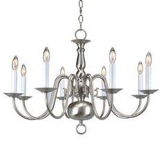 "Livex Lighting�8-Light Williamsburg Polished Brass Chandelier Lowes $219.90 18"" height. 26"" width"