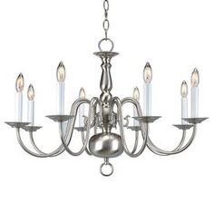 "Livex Lighting�8-Light Williamsburg Polished Brass Chandelier Lowes $219.90 18"" height. 26"" width"