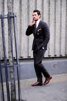 Model David Gandy, LCM After Hardy Aimes, London Street Style.