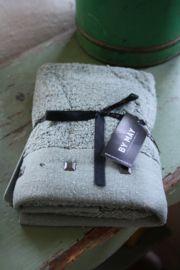 """heerlijk zacht handdoekje met studs """"Slate greenl"""""""