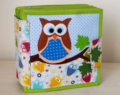 Owl Quiet Book, Busy Book, Activity Book, Educational/Learning Sensory Toy for Toddler and Baby, Gift for Kids (2-4 years)