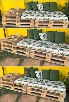 Pallet Garden Furniture, Diy Furniture Projects, Furniture Design, Easy Projects, Pallets Garden, Furniture Makeover, Outdoor Palette Furniture, Furniture Refinishing, Metal Furniture