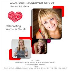 Offering Glamour Makeover sessions which include a mini boudoir shoot www.samanthajacksonphotography.co.za Photography by Samantha Jackson Photography  includes venue Professional makeup and hair styling