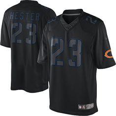 af7035027 NFL Men s Game Nike Chicago Bears  23 Devin Hester Impact Black Jersey   79.99