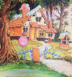 Hansel and Gretel Hansel And Gretel House, Hansel Y Gretel, Candy Theme Classroom, Evil Stepmother, Candy House, Cottage Art, House Illustration, Class Decoration, Witch House