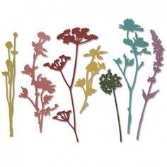 Sizzix - thinlits wildflowers