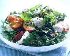 Lentil & Goat Cheese Salad Recipe  http://www.mysaladrecipe.com/lentil-goat-cheese-salad-recipe/