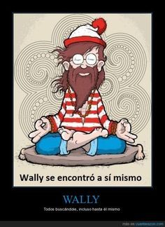 "Wally se encontró a sí mismo (el ""se"" reflexivo) (pretérito). Visit http://www.estudiafeliz.com for more fun materials for Spanish teachers and students!"