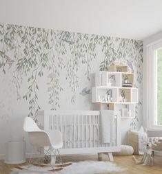 SHOP Willow Tree & Birds Mural Removable Wallpaper for Girls Nursery Nursery Themes, Nursery Room, Kids Bedroom, Bird Theme Nursery, Nursery Murals, Kids Room Murals, Themed Nursery, Nursery Ideas, Baby Room Design