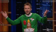 At Midnight Happy Birthday Jesus! Looks like CH is going for a more casual vacation beard. It's a good look. Talking To The Dead, Happy Birthday Jesus, Christmas Sweaters, Ties, Suit Jacket, Vacation, Casual, How To Wear, Fashion