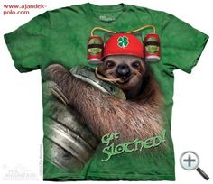 Costa Rica Animals - Get Slothed T-Shirt - Adult 3d T Shirts, Cool T Shirts, Cool Posters, Ink Color, Tshirts Online, 3 D, Classic T Shirts, Tees, Prints