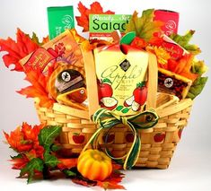 Special Fall Gift Basket w/Gourmet Cheese and Crackers ** More info could be found at the image url.