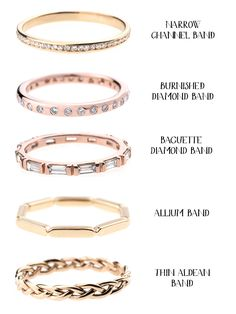 Unique wedding bands from Bario Neal