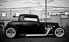 Black coupe Flamin-mo  via: America by Motorcycle