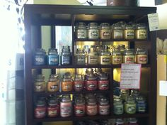We carry a large assortment of Yankee Candles!