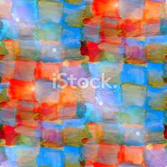 sun glare grunge texture, watercolor blue red seamless backgroun Royalty Free Stock Photo