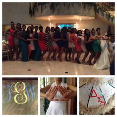 Our Bride and her sorority sisters!
