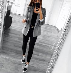 "3,299 Likes, 30 Comments - WOMAN MAGAZINE  (@woman___magazine) on Instagram: ""@elayworld_"" Autumn, Grey, Spring, Pants, Outfits, Style, Fashion, Gray, Outfit"