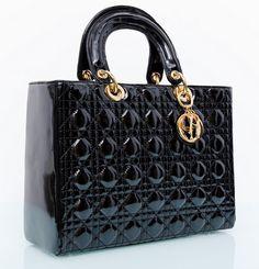 Сумка Lady Dior лаковая кожа лучшего качества