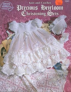 Precious Heirloom Christening Set free crochet pattern.....I have many of the pattern books if anyone wants a pattern.