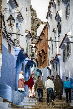 Chefchaouen, Morocco http://www.whenevermarrakech.com/chefchaouen-hostels/ http://www.marrakechrougehostels.com/chefchaouen/