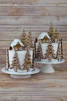 Gingerbread Forest House Christmas Cake from Blossom Tree Cake Co Harrogate North . - Gingerbread Forest House Christmas Cake from Blossom Tree Cake Co Harrogate North … - Christmas Sweets, Christmas Cooking, Christmas Goodies, Christmas Holidays, Christmas Cakes, Christmas Cake Decorations, Xmas Cakes, Christmas Cake Designs, Tree Decorations
