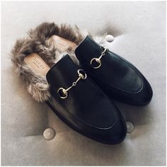 Gucci fur slip-on loafer YES PLEASE