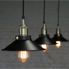 America countryside style rural black umbrella pendant lighting to decorate bar