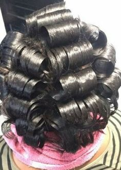 80s Hair, Roller Set, Curled Hairstyles, Curls, Hairstyle Ideas, Hair Styles, Beautiful, Fashion, Hair Makeup