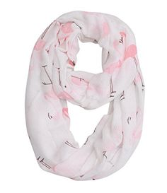 Flamingo and Starfish Infinity Scarf For Christmas Day (Flamingo). Nice quality,good stitching,high colour fastness,reach CP65 Standard. 2 patterns available (flamingo and starfish). Size: 26(W)*36(L) inches and quality is 65% polyester,35% viscose. Baby soft,very good touching. This item can be arrived at your hand from 5 to 10 days after you buy it.
