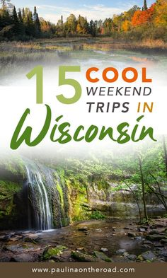 Discover the Best Weekend Trips in Wisconsin. Including day trips from Milwaukee and Madison. Read on where to go on a weekend getaway in Wisconsin for hiking, lake cabins, outdoor fun. But also lovely city trips and lake side trips to Wisconsin Dells. Find information on where to stay and where to eat during your weekend excursion in Wisconsin. #wisconsin #midwest #weekendtripswisconsin #getawaywisconsin