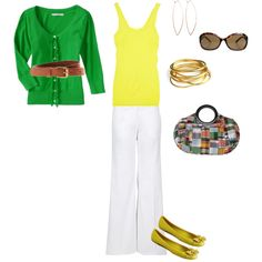 yellow + green.