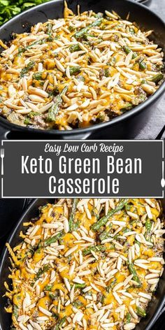 This easy Keto GReen Bean Casserole recipe is a low carb alternative to your favorite Thanksgiving and Christmas side dish. Made with fresh green beans, and homemade keto cream of mushroom soup this simple homemade keto side dish will be everyone's new favorite! #ketorecipes #ketodiet #keto #greenbeans #cassserole #thanksgiving #Christmas Keto Side Dishes, Side Dishes Easy, Side Dish Recipes, Low Carb Recipes, Dinner Recipes, Casserole Dishes, Casserole Recipes, Christmas Side, Greenbean Casserole Recipe