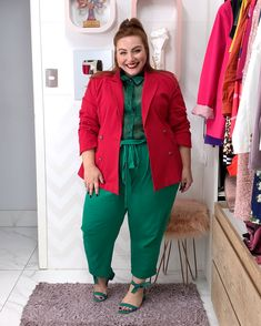 Color Blocking Outfits, Office Looks, Curvy Outfits, Plus Size Outfits, Curvy Fashion, Plus Size Fashion, Plus Size Street Style, Blazer Plus Size, Look Blazer