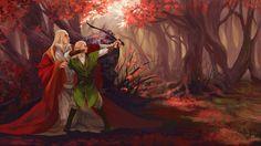 Thranduil and young Legolas.  buyiliu.tumblr.com/