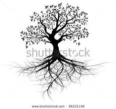 Image result for sketch of tree with roots