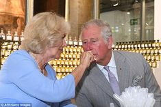 The Duchess holds up a fragrance for Charles to sample at the Parfumerie Fragonard laboratory plant in Eze, near Nice Prince Charles And Diana, Camilla Duchess Of Cornwall, English Royal Family, Royal Uk, Tours France, Famous French, British Monarchy, Crown Royal, Prince Of Wales